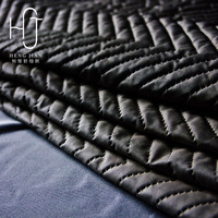 New design High quality quilted faux leather fabric