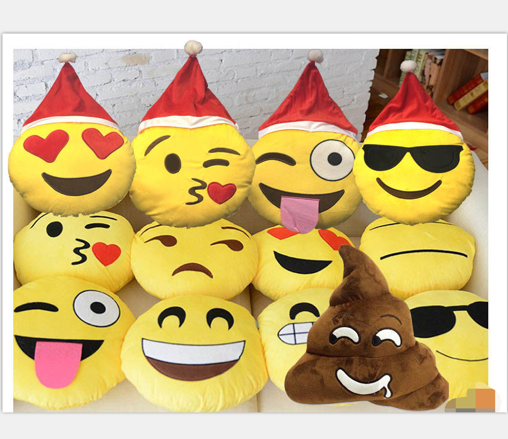 Christmas Emoji.Good Quality Wholesale Factory Christmas Emoji Pillow Emoji Expressions Santa Laugh Cry Plush Pillows With Santa Hat Buy Good Quality Wholesale