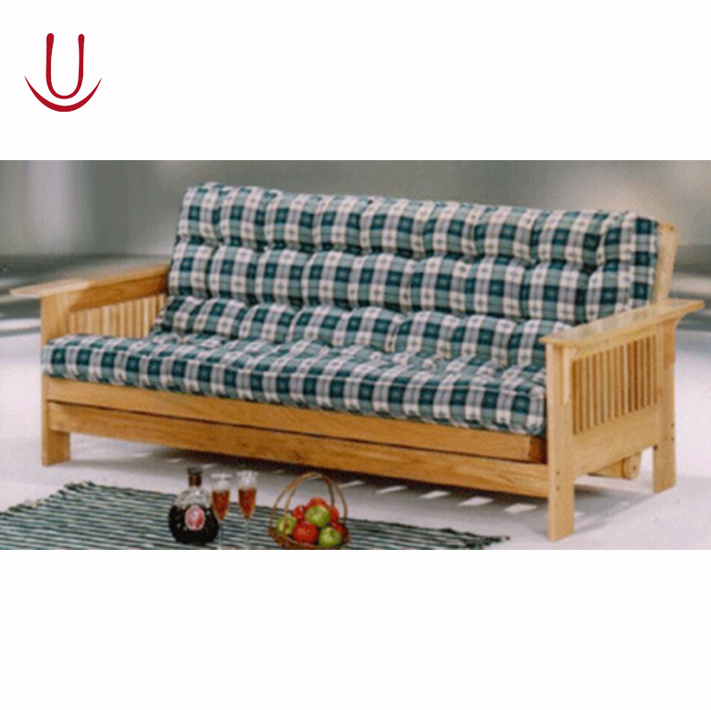 Sofa bed wood 2017 new design wooden sofa bed with drawer for Wooden frame futon sofa bed