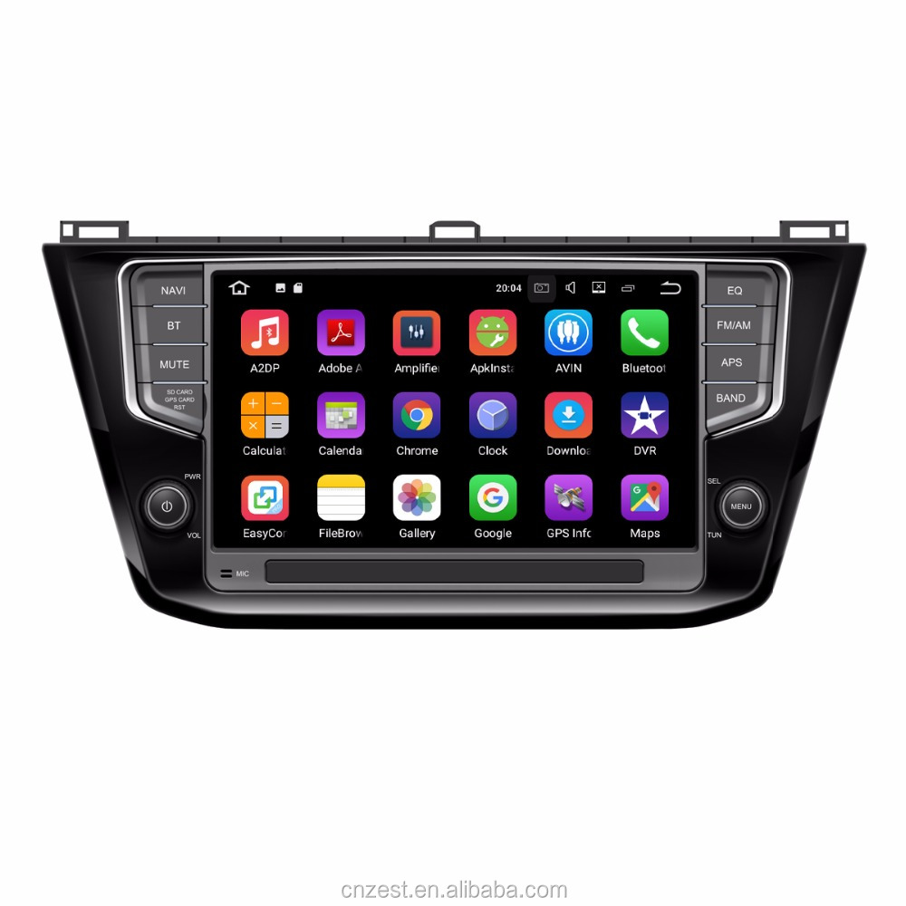 Zestech android 7.1 touch screen android car radio for VW Volkswagen Tiguan 2017 with car dvd player gps navigation radio