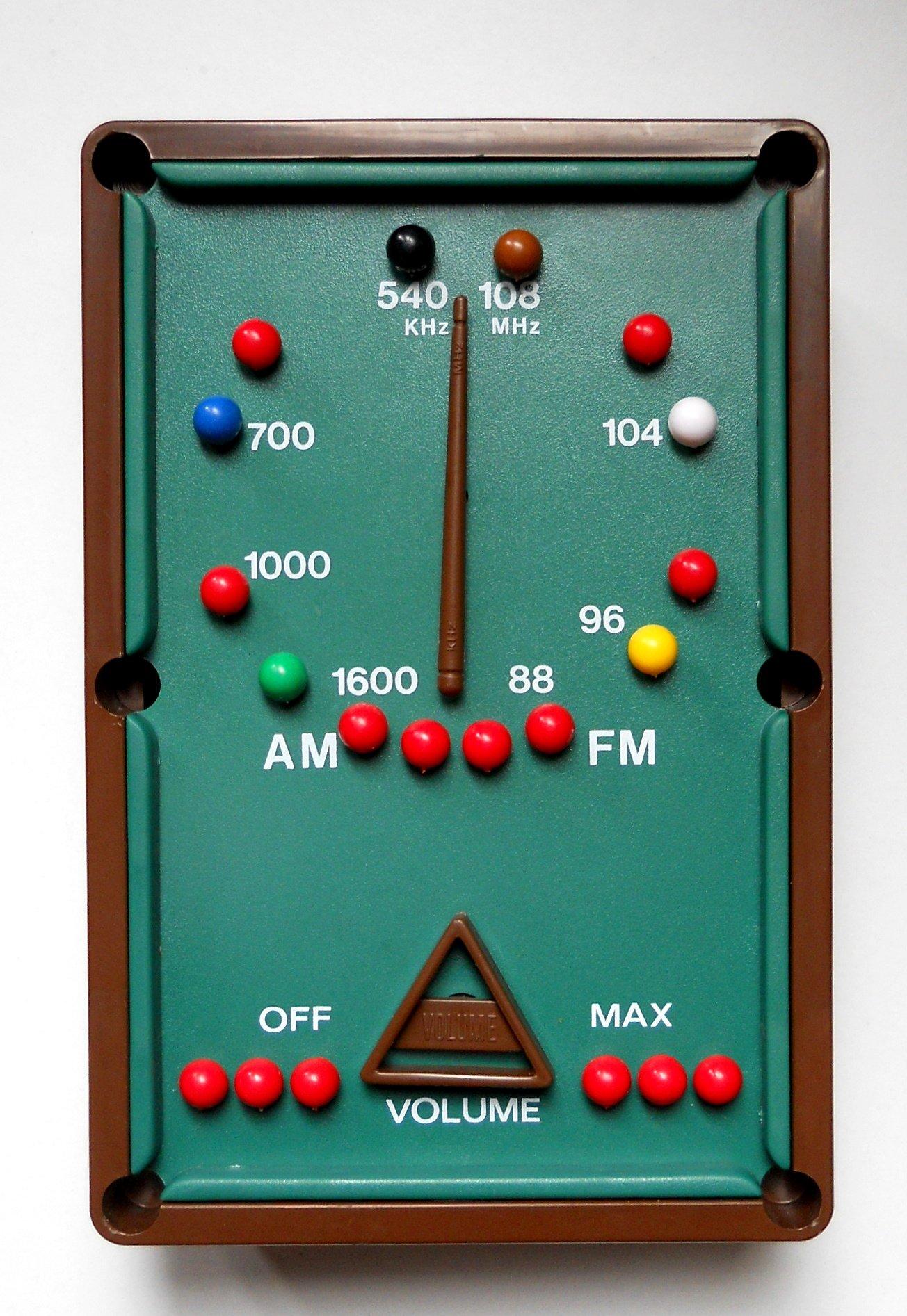Novelty Pool Table Radio Am/fm
