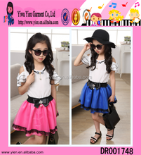 2015 New Fashion High Quality Open Shoulder Ruffle Baby Girls Cutting Frocks Designs