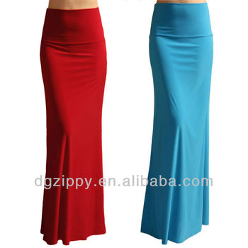 Hot Selling Maxi Skirt Design Plain Long Maxi Skirt - Buy Maxi ...