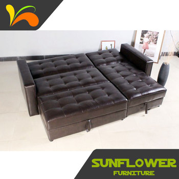 Modern Corner Leather Sofa Cama