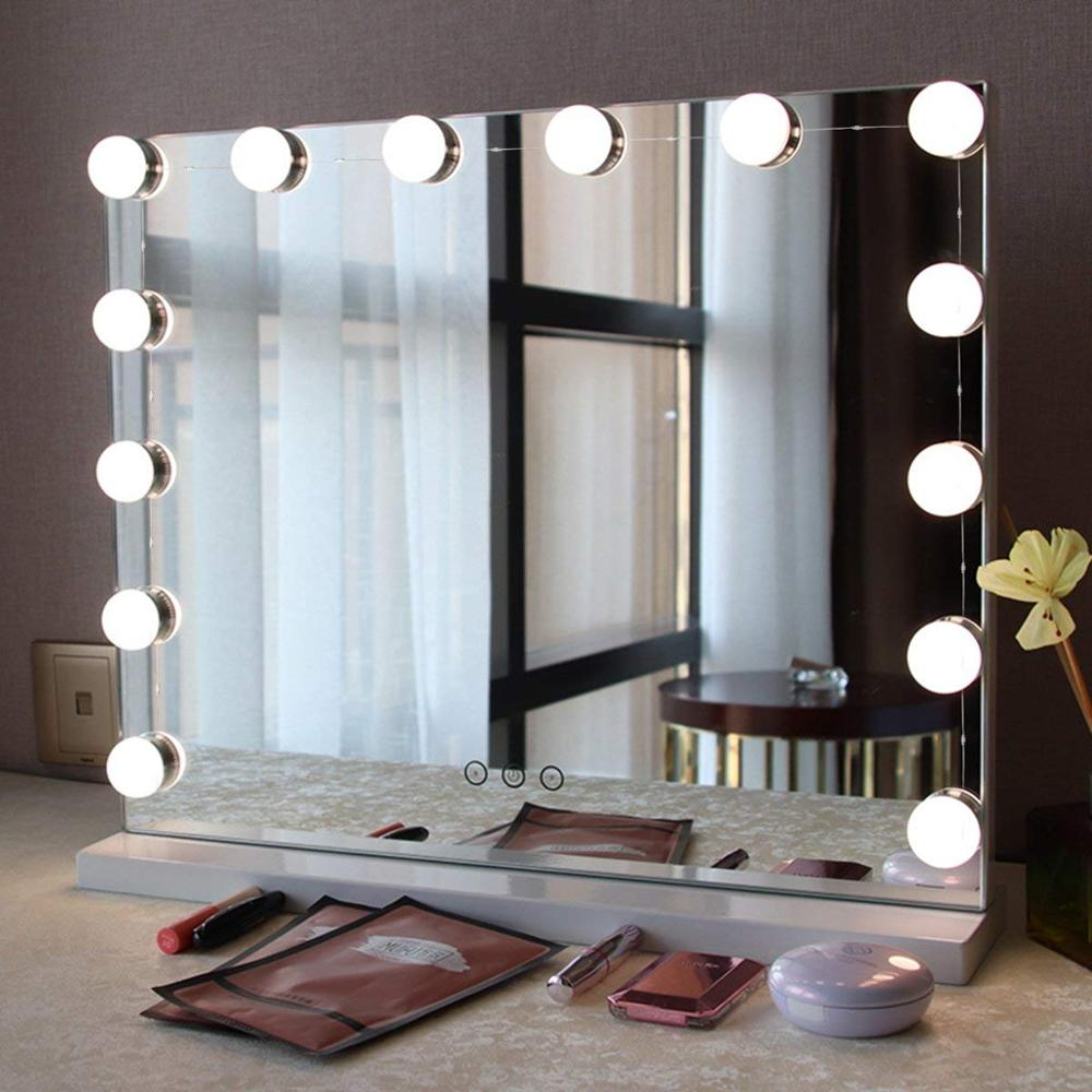 Hollywood Super Star Style Makeup Mirror Vanity Led Light Bulbs Kit With Usb Cable Power Supply Buy Led Grow Light Kit Mirror Light Led Led Bulb