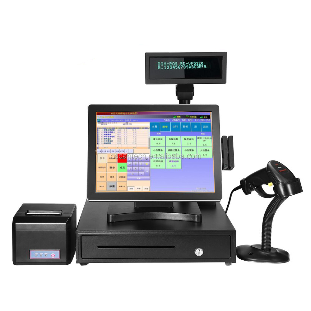 15 ''touchscreen alles in een pos-systeem/kassa/kassier POS machine