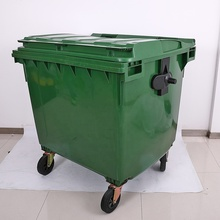 Custom Design Kunststoff <span class=keywords><strong>Hdpe</strong></span> 1100L Bin, Outdoor Abfall Bin/