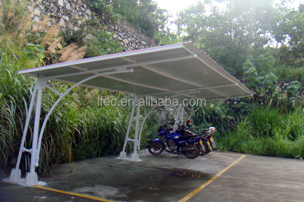 Prefab Waterproof Steel Parking Structure Roofing Shed
