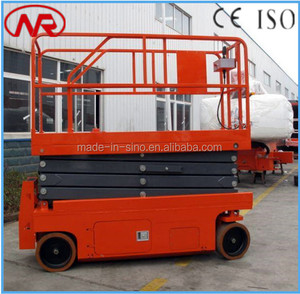 factory price self-propelled ginie scissor lift table
