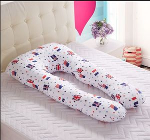U-shape Pregnancy total body pillow filled with microbeads