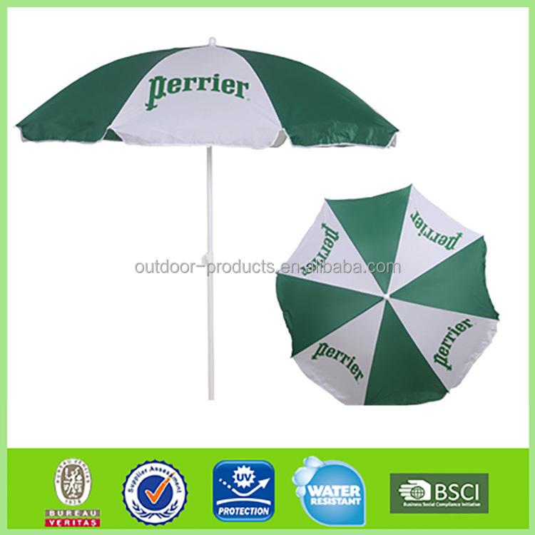 alta calidad publicidad paraguas a prueba de viento de polister paraguas grande - Sombrillas De Playa Grandes