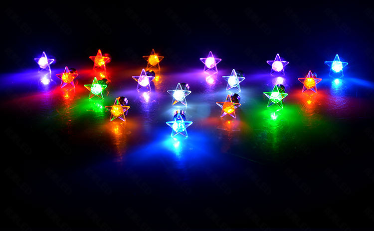 (Top Quality) LED Colorful Earrings Glowing Earrings Stud LED Ear Rings