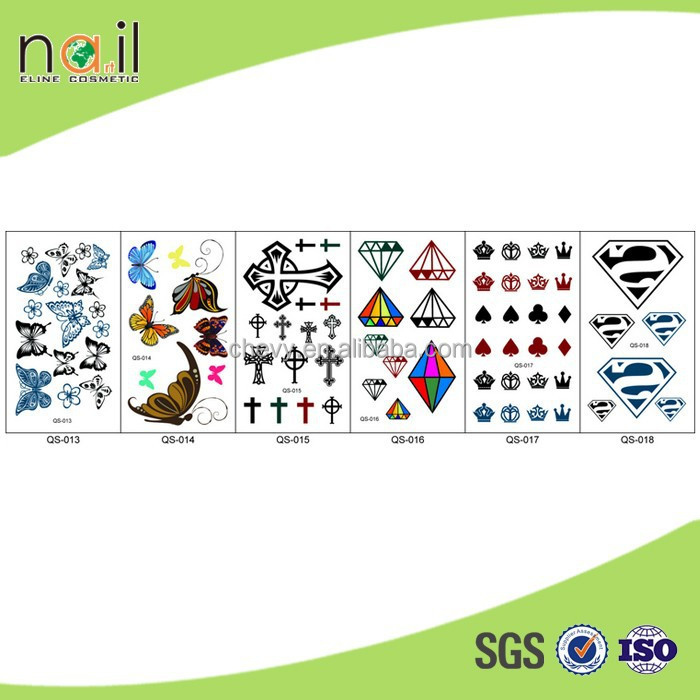 QSF-117 2015 the fashion customized adult body tattoo sticker with high quality