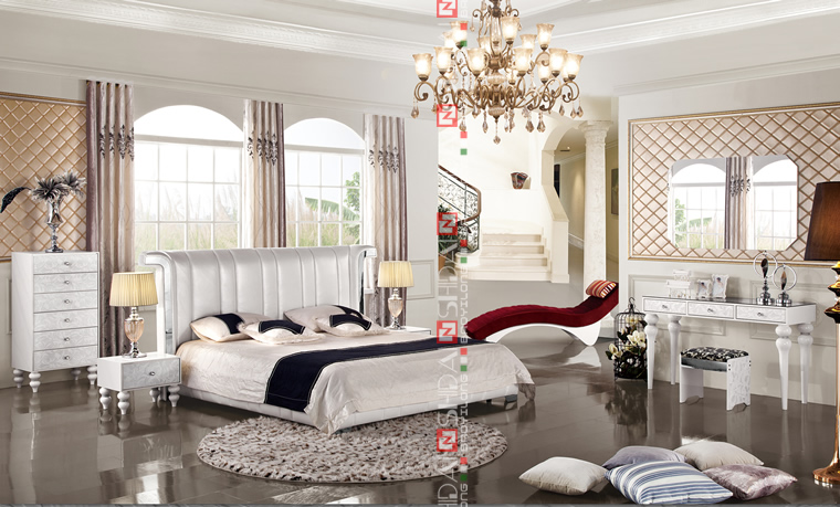 White Leather Bedroom Set, White Bedroom Furniture Sets For Adults, French  Style White Bedroom