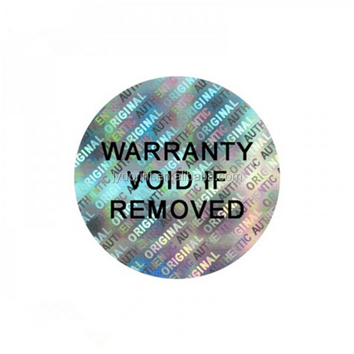 Cheap custom made 3d security transparent laser Hologram sticker label