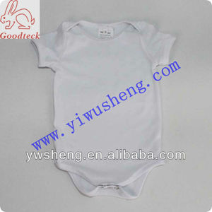 Wholesale white plain cotton baby romper
