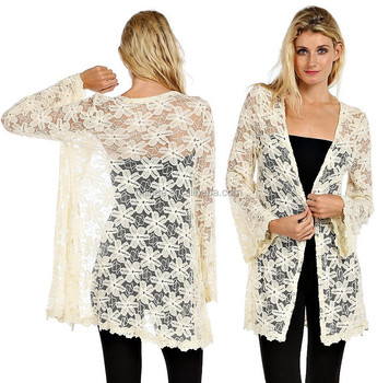 Longline Floral Crochet Lace Cardigan New Design Fashion Cardigan ...