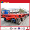 Heavy Duty Multi-Axles Swivel Wheel Trailer/Hydraulic Steering Modular Lowbed Truck Semi-Trailer