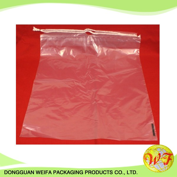 Factory Price White Plain Pe Promotional Drawstring Laundry Bag
