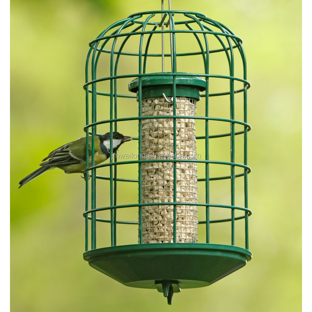 New Style Garden Metal Tube Seeds Hanging Bird Feeder
