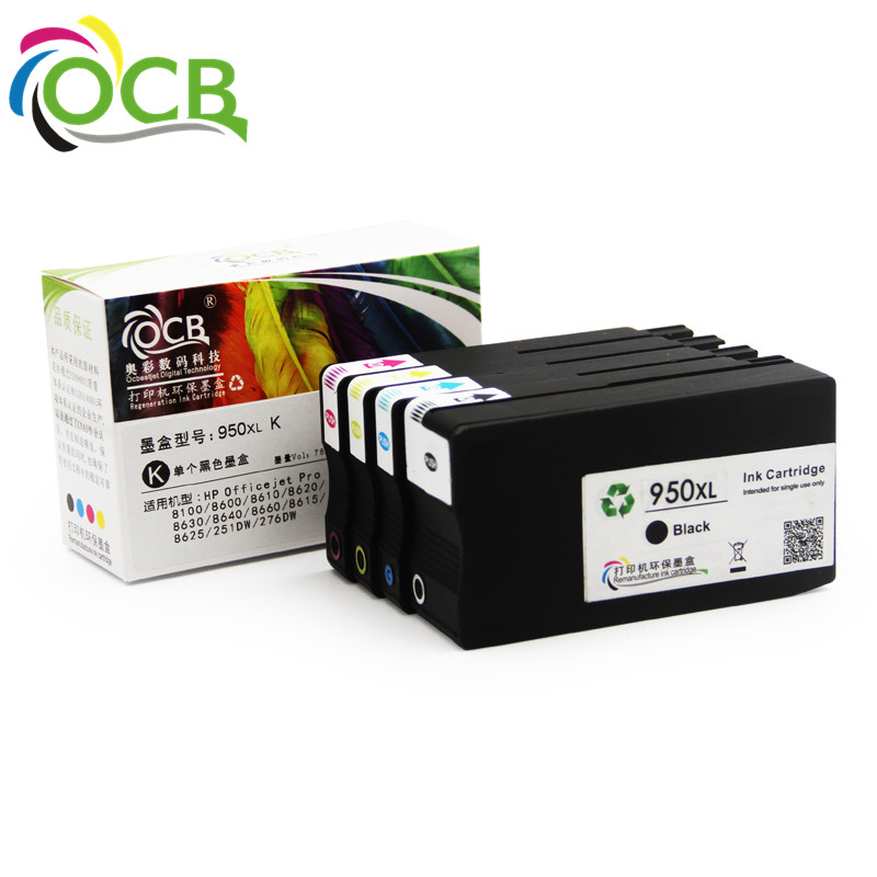 OCBESETJET compatible 950 951 ink cartridges works pro 8610