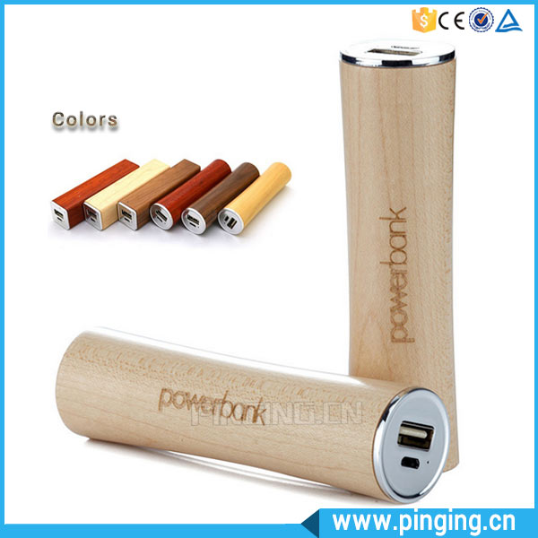 New Products Unique Design Slim Wooden Portable Charger Power Bank/Rohs Power Bank 2600mah