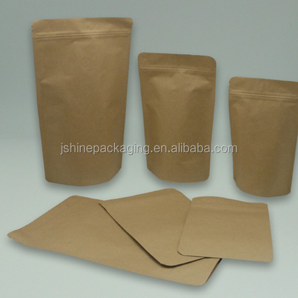 Custom Stand Up Paper Roll Stock With Zipper