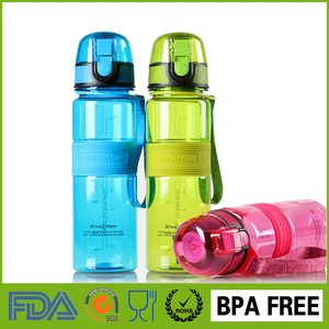 2016 new plastic insulated ecological push button pop up flip top can filter sport 500ml bicycle drinking water bottle