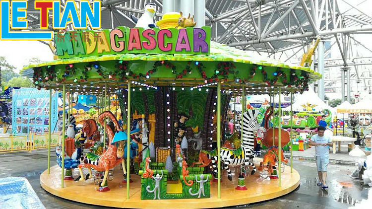 New Product 24 seats Madagascar Carousel Horse Kids Carousel Amusement Park for sale