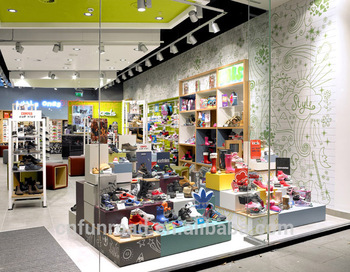 Cheap Wooden Kids Shoes Store Furniture