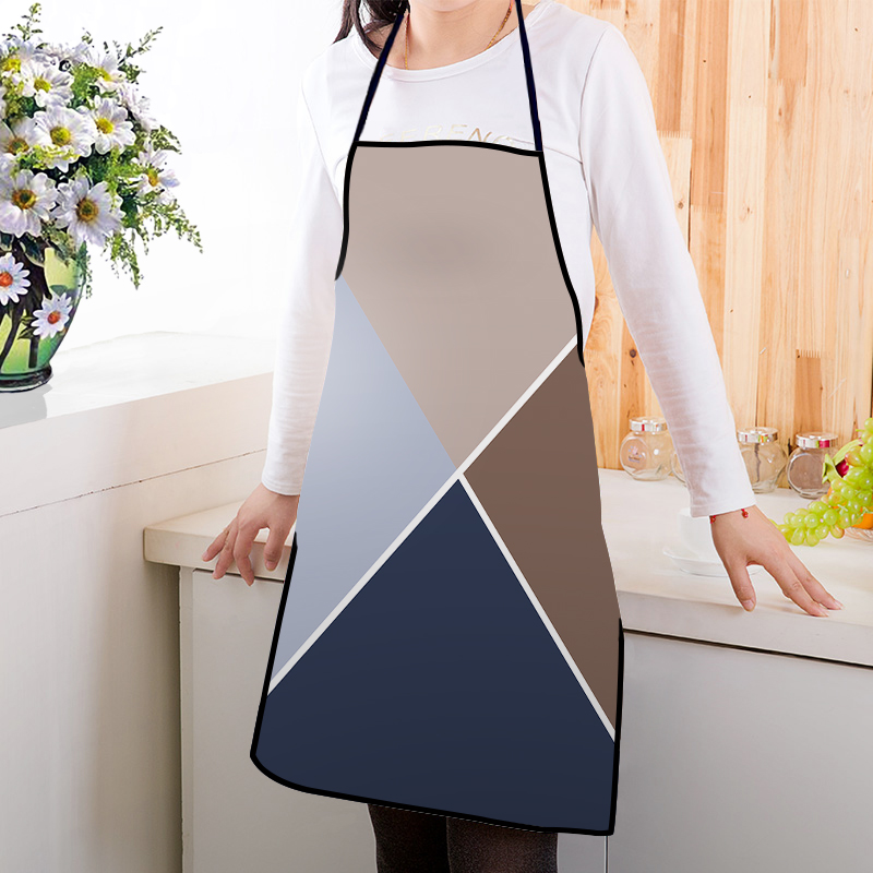 Cool  Kitchen Print Colorful Pattern Adults Chef Apron Cotton Linen Polyester Fabric Pinafore
