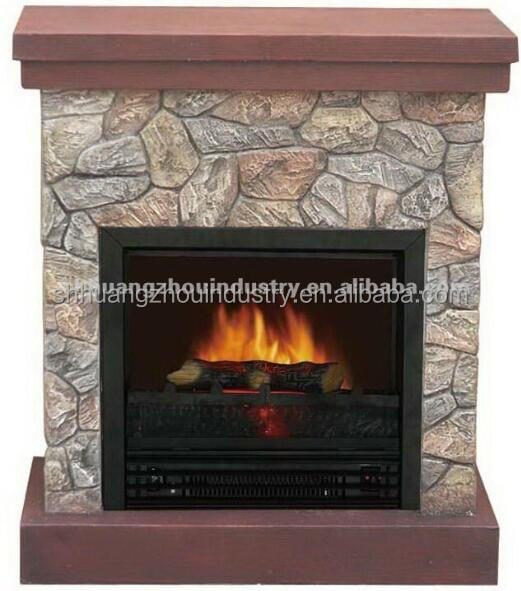 marble electric fireplace heater with remote