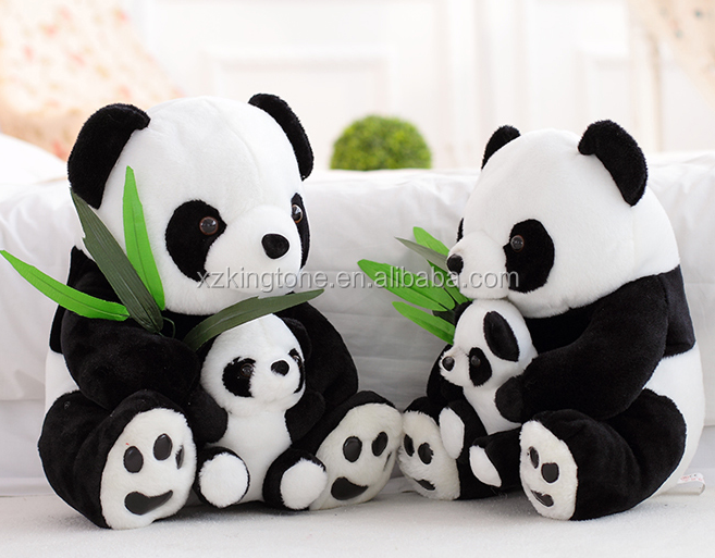 Wedding Gifts Stuffed Animal Mother and Babay Panda Plush Toy