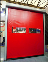 Reset Zipper Door Self Repairing High Speed PVC Industrial Roll Up Fast Rolling Door