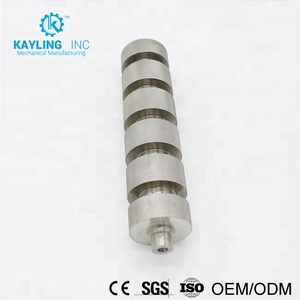 custom cnc machined parts aluminum knob knurled for service