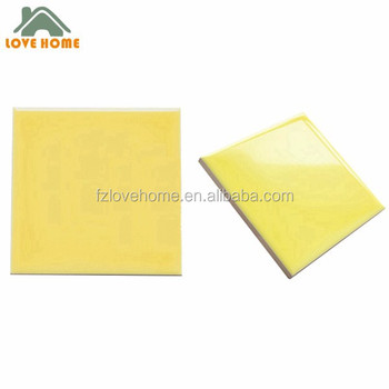 Grade Aaa Euro Quality Yellow Color Ceramic Tile Wall 10x10 Cm - Buy Ceramic Tile Wall 10x10 ...