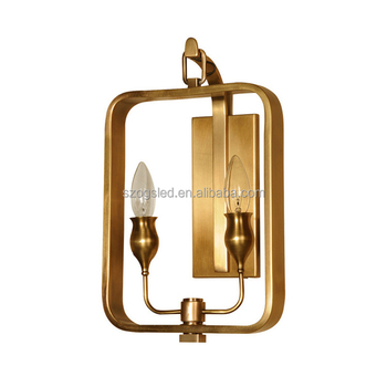 detailed look 38dfd a3bd6 New French Modern Vintage Industrial Brass Cheap Replica Frame Wall  Lamp,E14 Candle Light Bulb Frame Wall Sconces For Hotel - Buy Replica Wall  ...