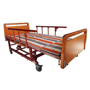 2017china supplier adjustable wooden hospital bed price