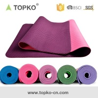 2018 TOPKO TOPKO 4-10mm Anti Slip Double Layers Non Toxic Eco TPE cheap Yoga Mat