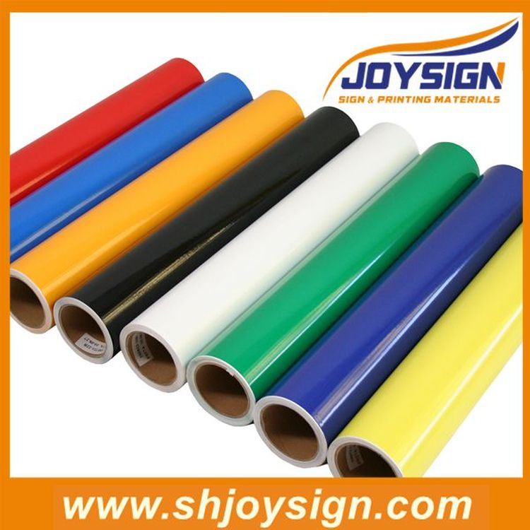 Factory colorful cutting vinyl rolls adhesive