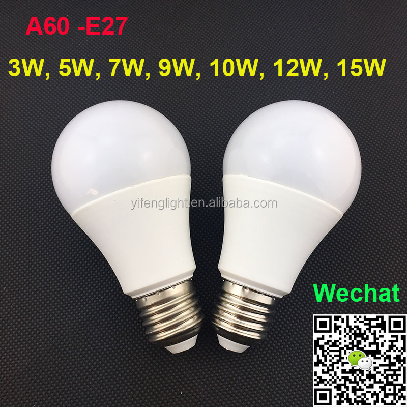 High Quality TUV-GS, CE, RoHS Approved Die-casting aluminium Thermal Plastic A60 9W LED Bulb E27