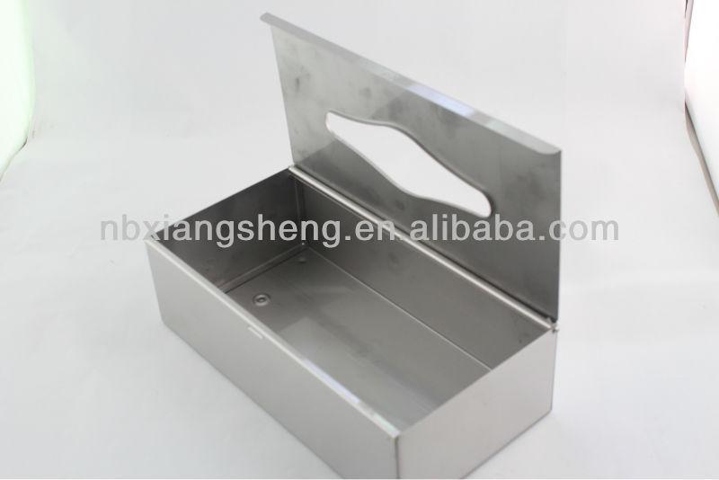 Metalen tissue box met spiegel gepolijst huishoudelijke roestvrij staal rechthoekige tissue box - Rechthoekige gootsteen ...