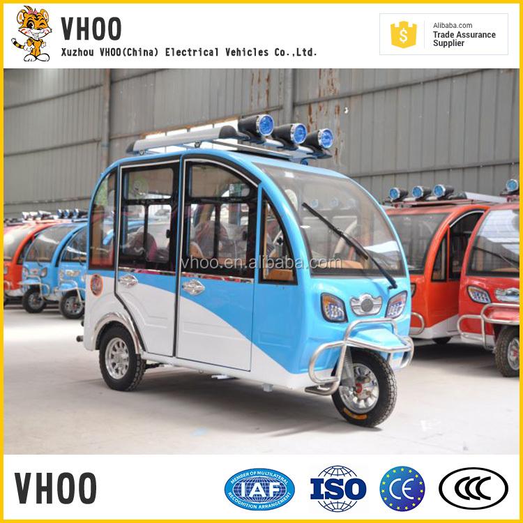 prezzo basso triciclo elettrico coperto/tuktuk con cabina
