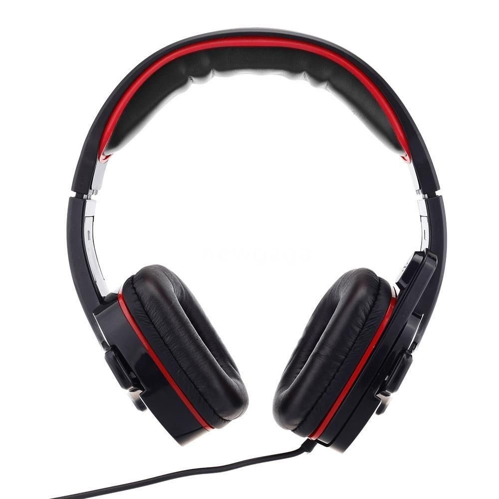 Computer Headset with Microphone Red Professional Gaming Headset Výkon Me333 USB Headset with Microphone Computer Pc Gaming Headset