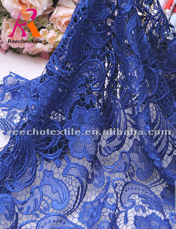 2018 hot selling embroidery 100% polyester chemical nigerian cord lace