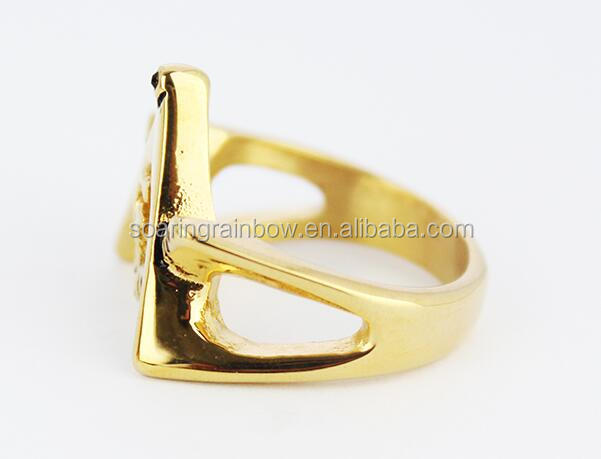 Unique design man ring simple symbol mosonic ring free mason ring retailed wholesale