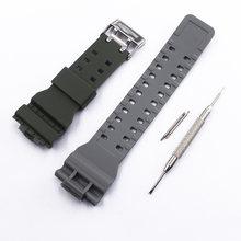 Аксессуары для часов, двухцветный ремешок с пряжкой для Casio G-SHOCK, GD-100, GA100, GD-110, 120, GA-110, для женщин и мужчин(Китай)