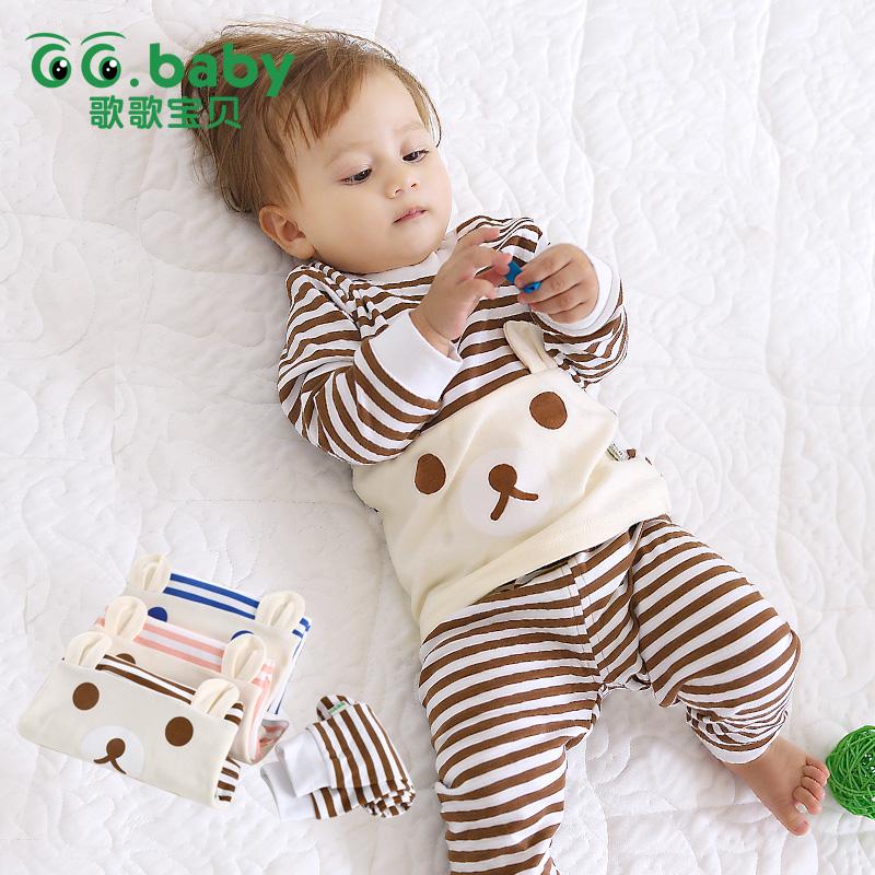 175d5128a Hot Baby Boy Girl Pants Set Long Sleeve Bear Newborn Baby Suit Boy ...