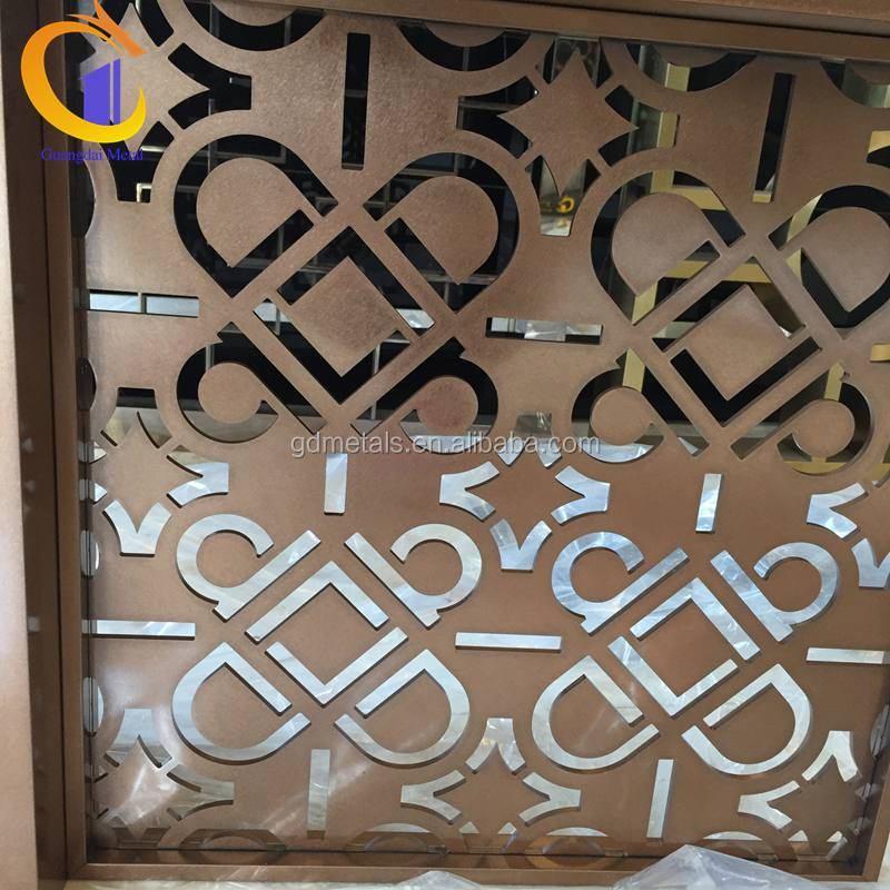 Customized stainless steel screen divider malaysia hotel project