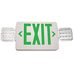 Exitronix Exit/LED Emergency Combo Light Color: Green